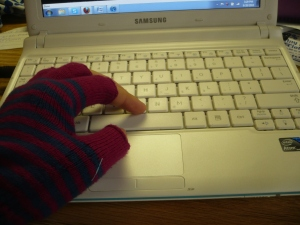 Cold hands..typing